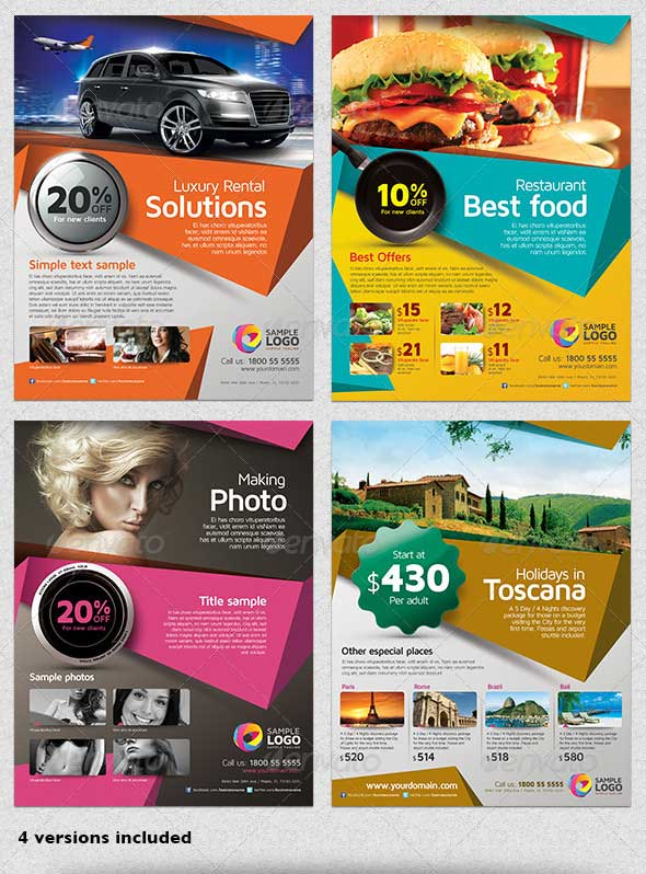 Multipurpose Business Flyer Template PSD Download