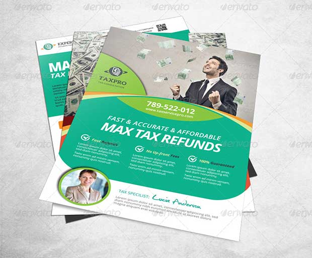 Professional Business Tax Refund Flyers