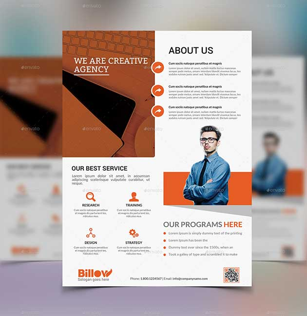 Modern Business Flyer Template Photoshop PSD