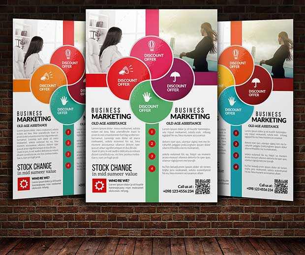 Fully Layered Business Training Flyer PSD Template