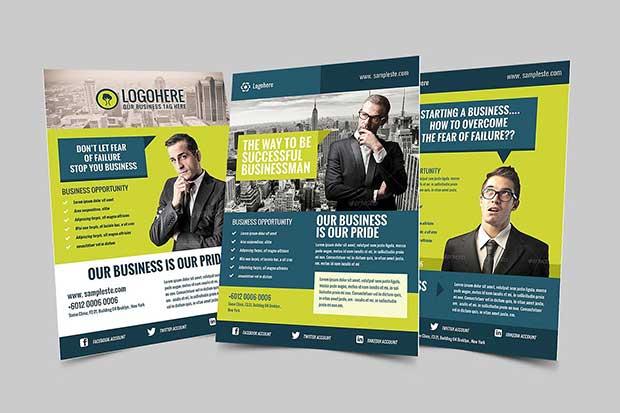 Businessman Flyer & Poster Template