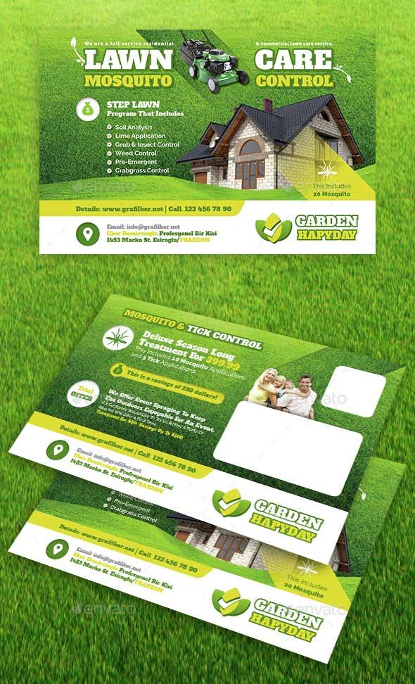 garden-landscape-postcard-templates