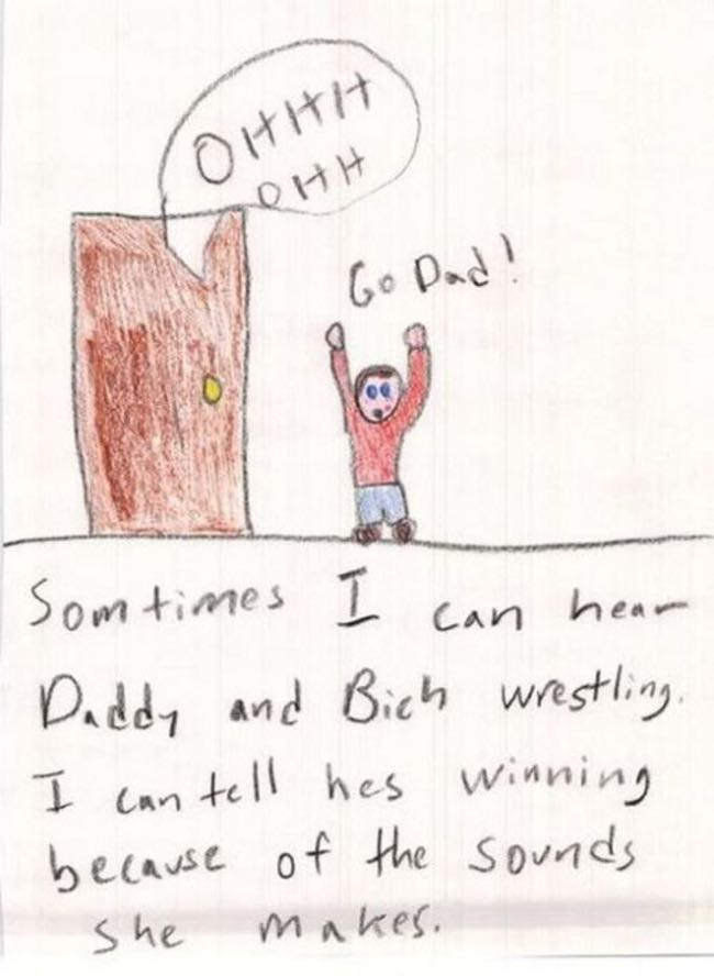 Good for Dad! is listed (or ranked) 5 on the list 51 Unintentionally Hilarious Kids' Drawings