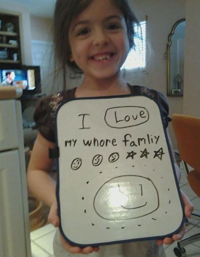 Family Is Love! is listed (or ranked) 7 on the list 51 Unintentionally Hilarious Kids' Drawings