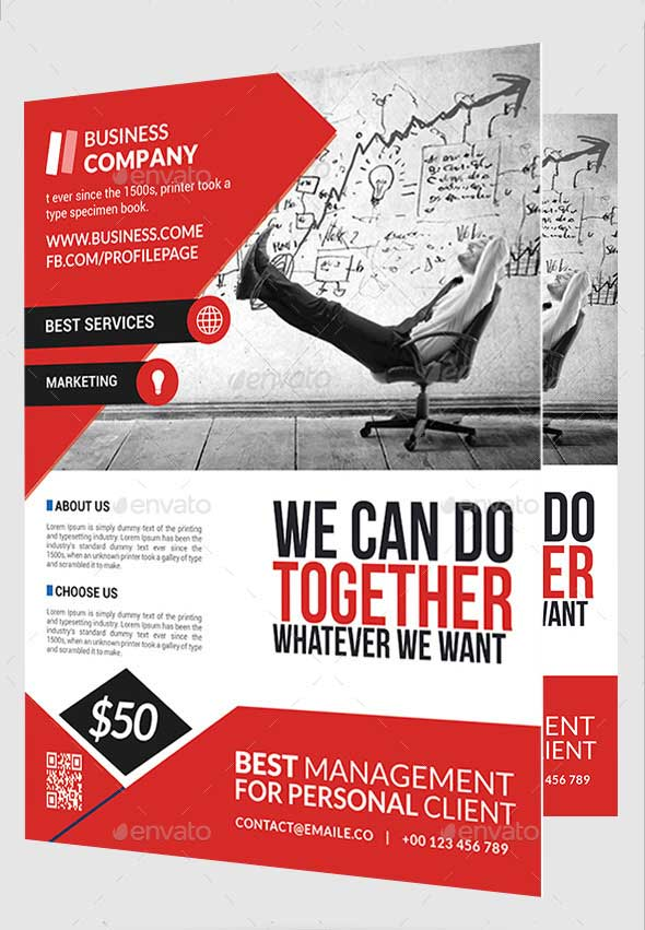 Photorealistic Business Flyer PSD Template