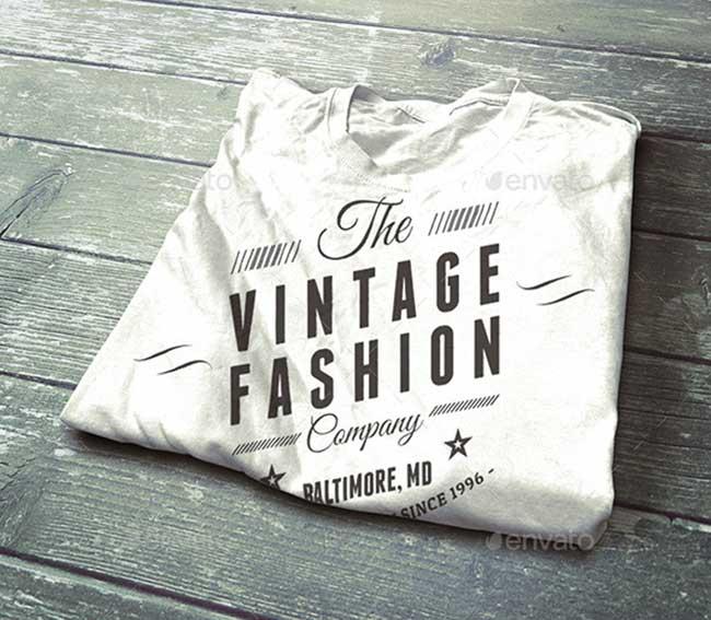 Vintage-T-Shirt-Mockup