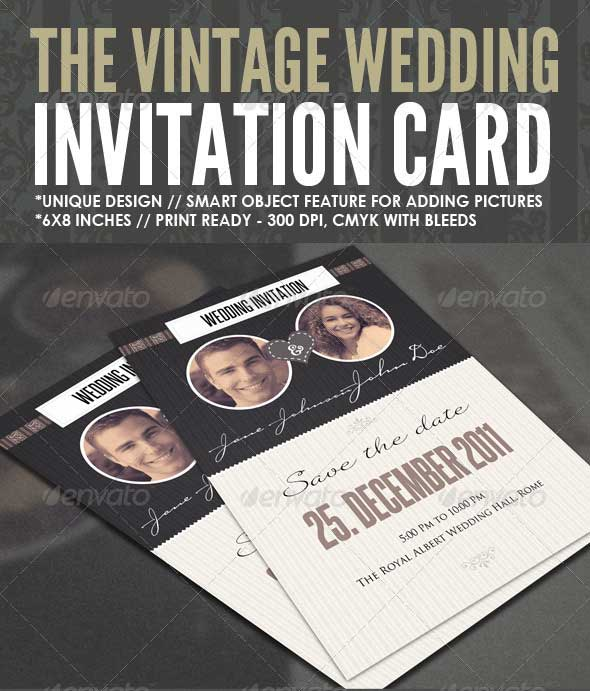 The Vintage Wedding Card