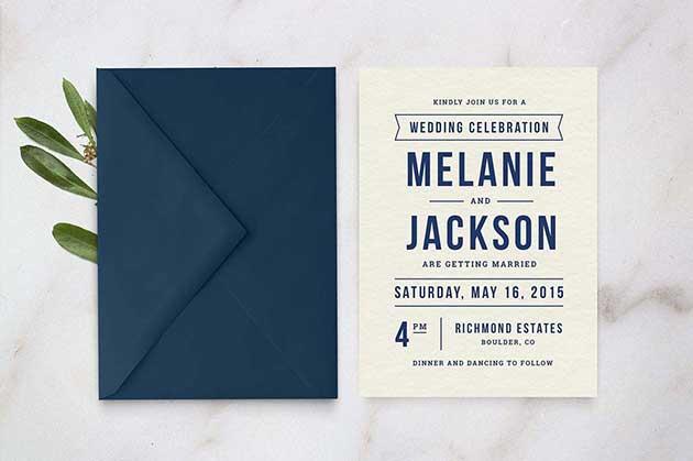 Printable Wedding Invitation Template PSD Download