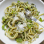 A spring twist on pesto with avocado, mint and pistachios.