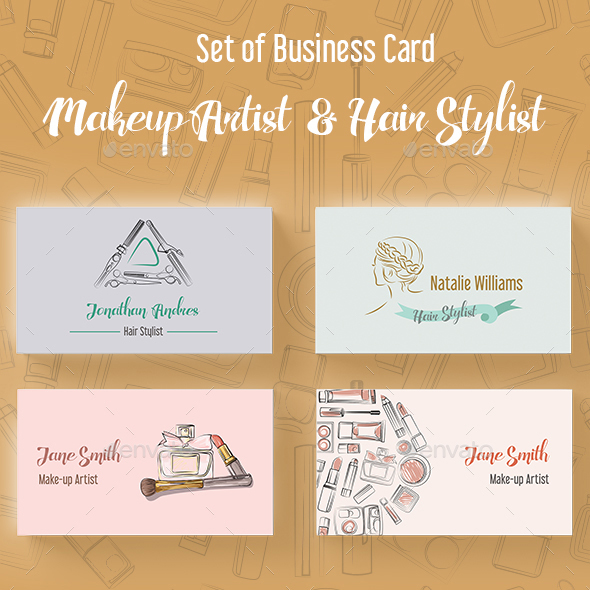set-of-makeup-artist-and-hair-stylist-business-card