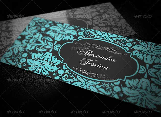 Vintage wedding invitations Templates