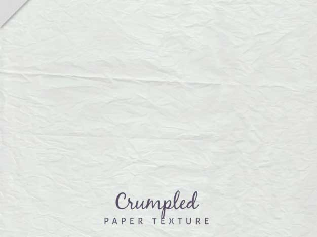 White Crumpled Sheet Texture