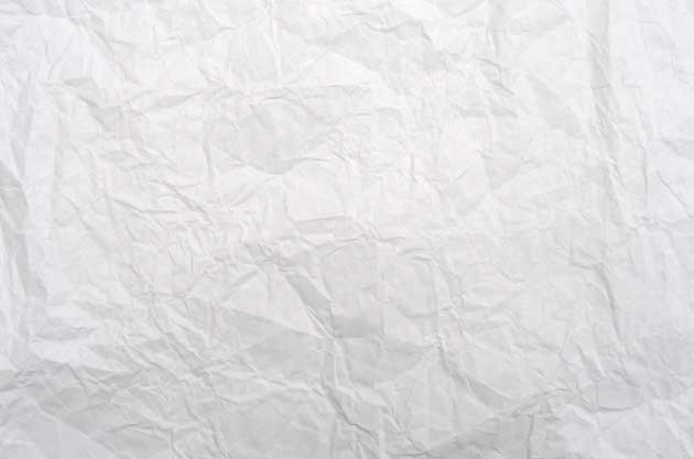 Crumpled White Paper Texture For Free