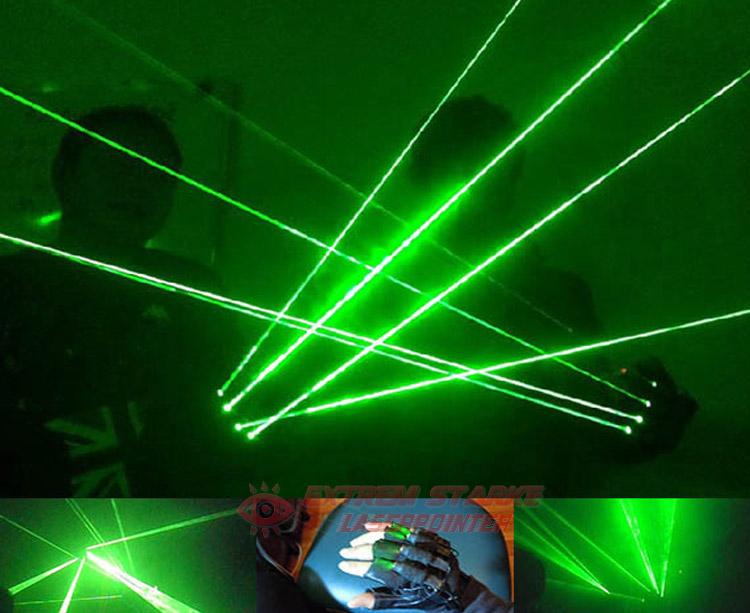 Laserhandschuhe Grün