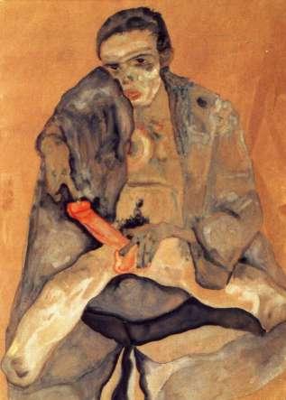 Eros (autorretrato), Egon Schiele, 1911