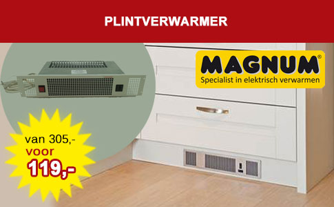 Keuken plintverwarmer in RVS of WIT