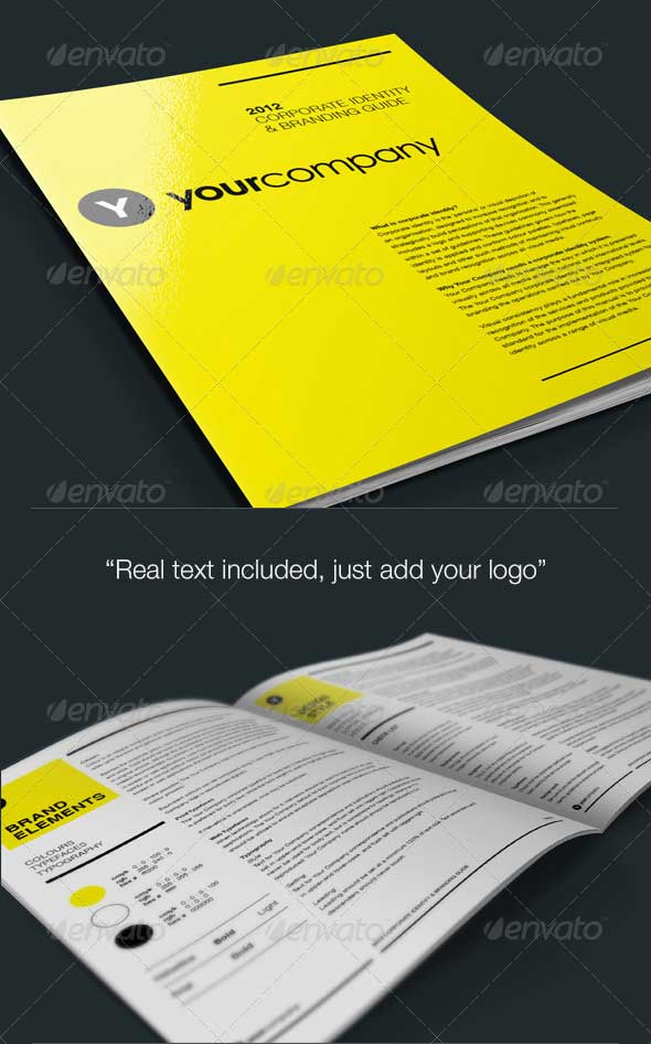 An 8 Page Brand Guidelines Booklet Template