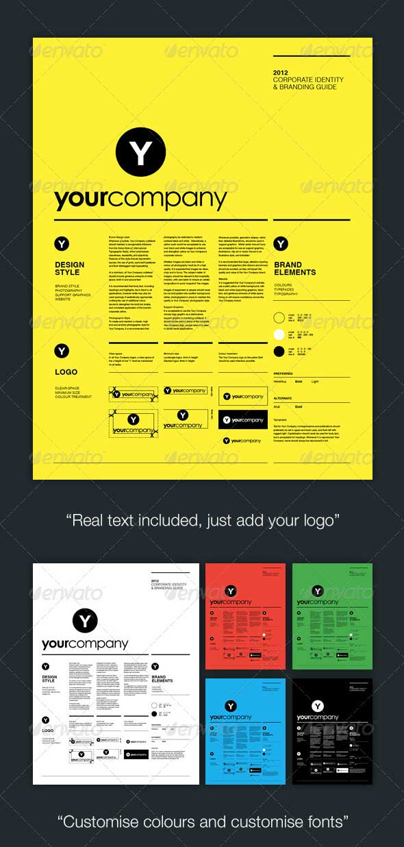 A Minimalist Brand Guidelines Templates