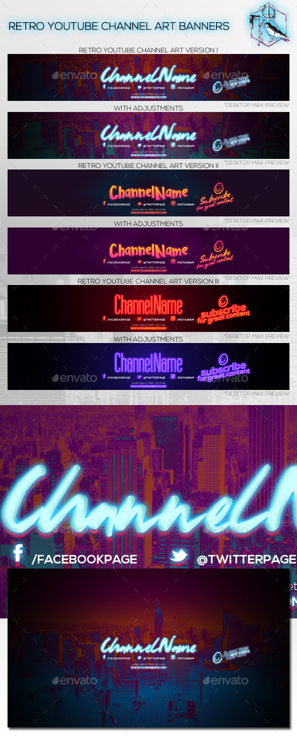3-retro-youtube-channel-art-banners