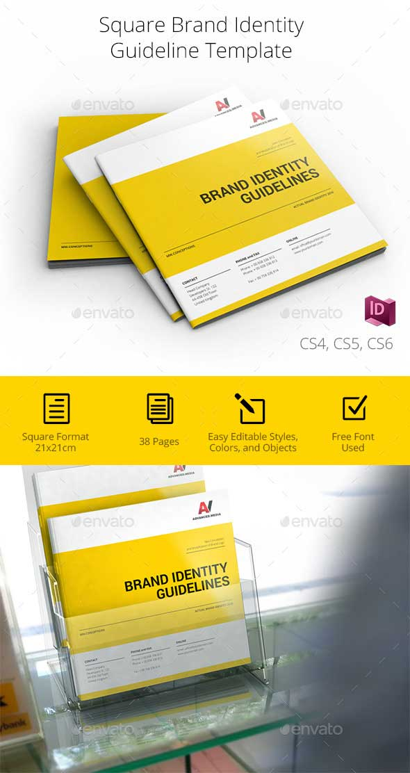 Square Brand Identity Guidelines Templates