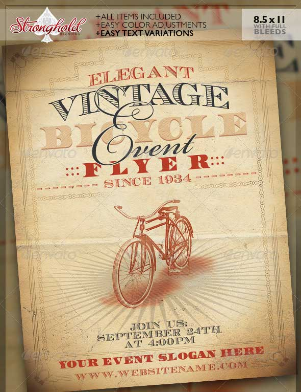 vintage-bicycle-event-flyer