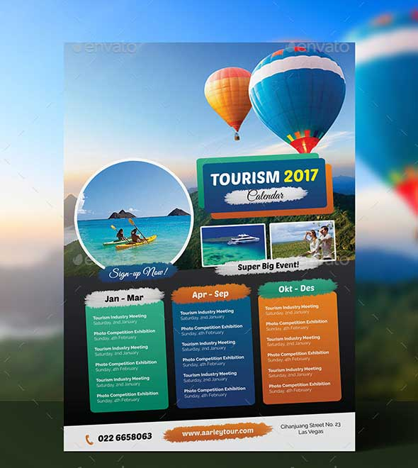 tourism-events-calendar-flyer-template