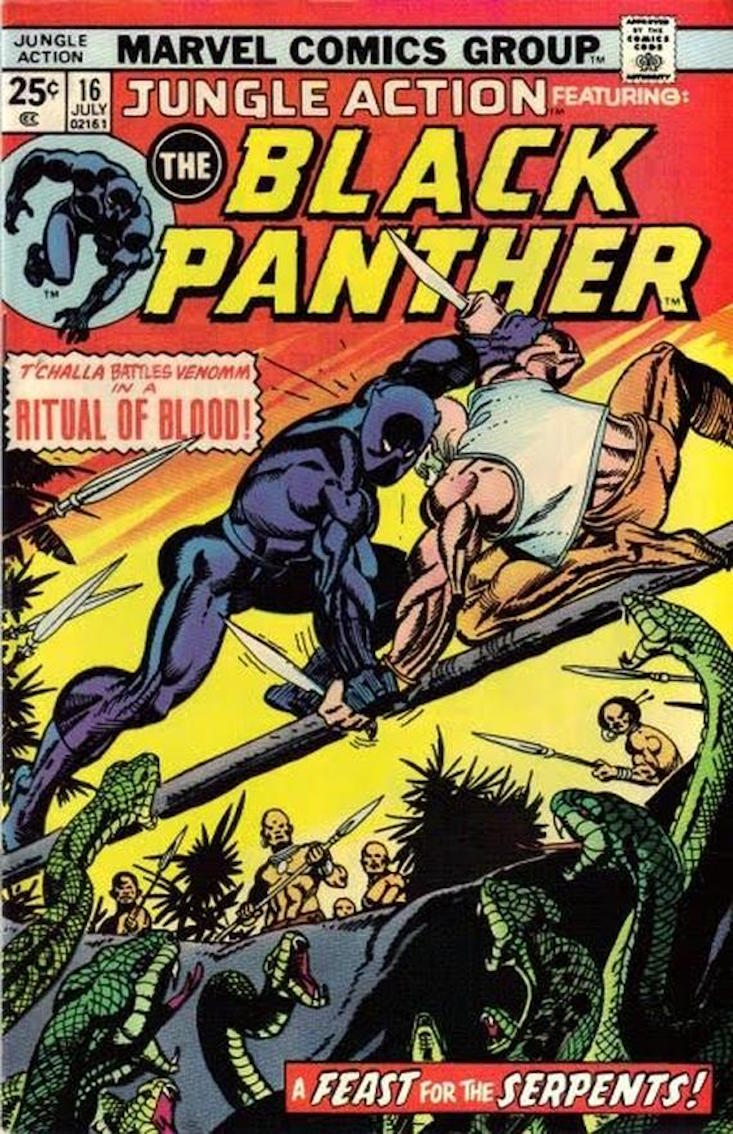 black panther comic 1966 cover
