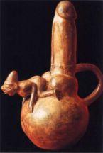 Huaco erótico / Cultura moche (Perú) 300 a.C. - 800 d.C