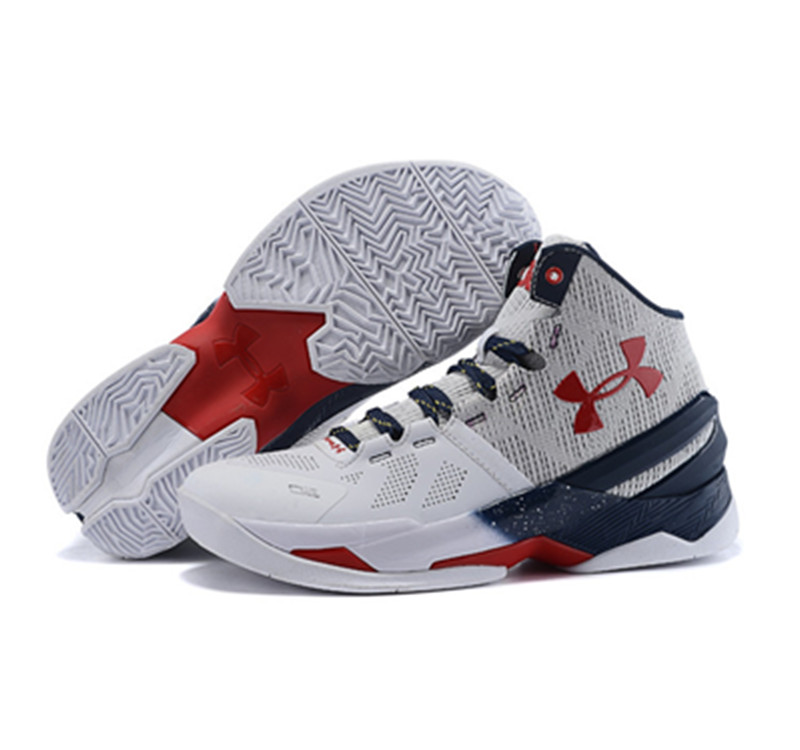 Under Armour Stephen Curry 2 Shoes Black White Red