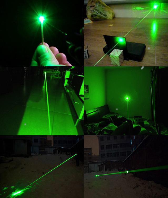Laserpointer Grün Gattling Style