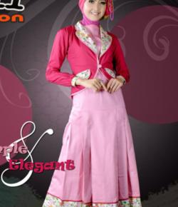 P.n Fashion Gamis 0747 – Pink