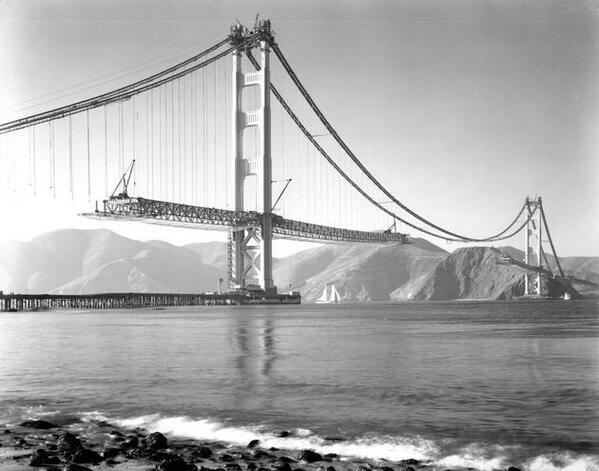golden gate bridge under construction