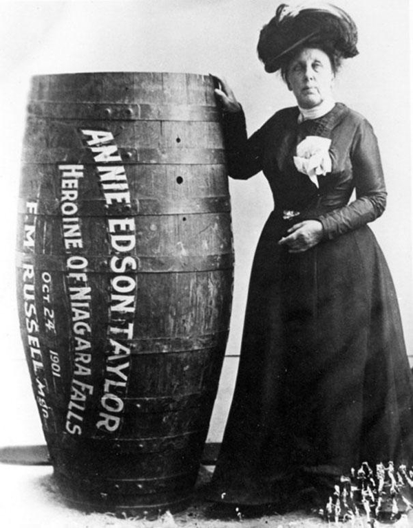 Annie-Edison-Taylor-the-first-person-to-survive-going-over-Niagara-Falls-in-a-barrel-1901
