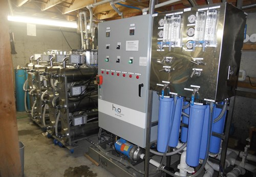 A view of Goodrich's reverse osmosis system