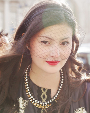 Hair Accessory Peony Lim Blogger