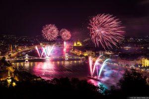 Budapest Fireworks Show by Miroslav Petrasko