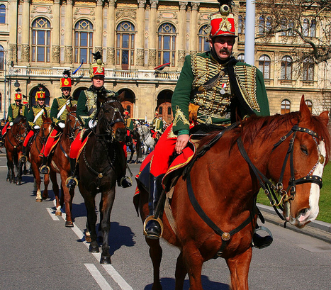 Hussar Procession - March 15 National Holiday Budapest