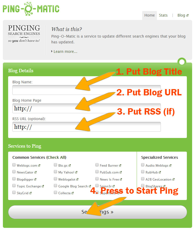 best ping services for blog