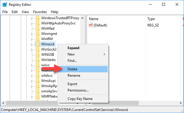 Fix: Windows Sockets Registry Entries Required For Network Connectivity Are Missing - 2