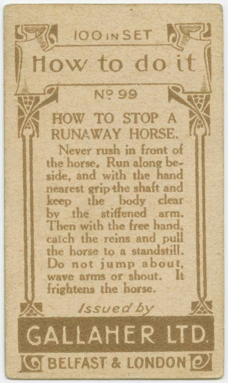 How to stop a runaway horse-text
