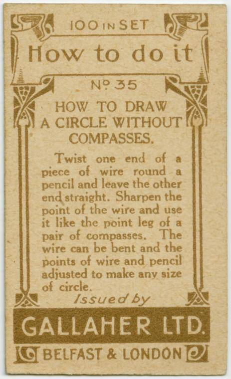 How to draw a circle without compasses-text