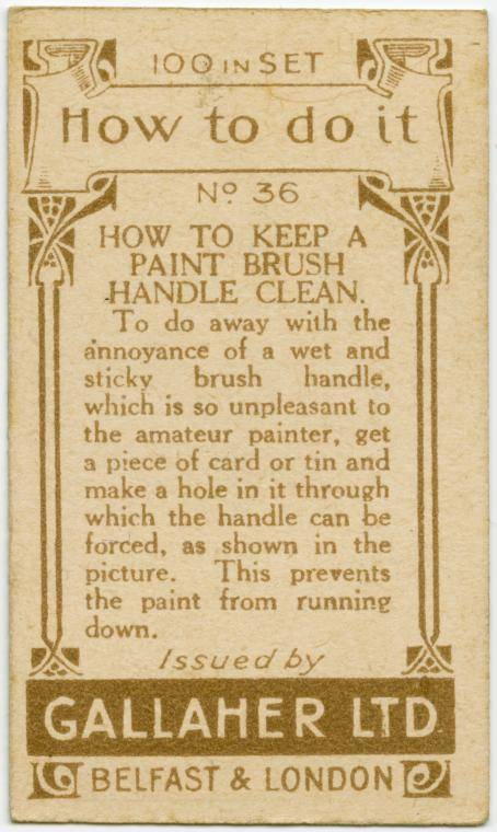 How to keep a paint brush handle clean-text
