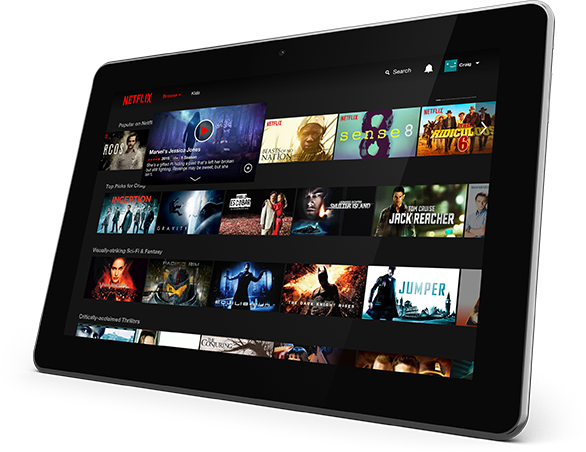 Tablet with Netflix