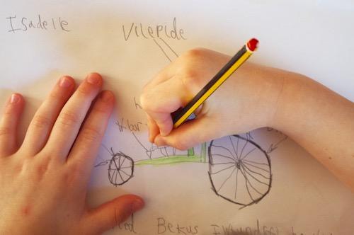 Drawing a velosopeed