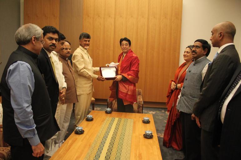 chandrababu naidu with Japan PM