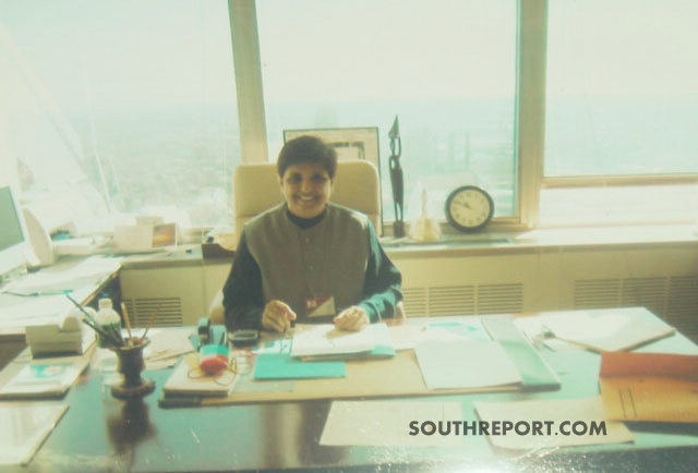 Kiran bedi at her office in United Nations
