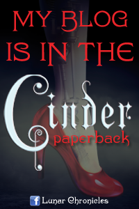 My blog is in the Cinder paperback!