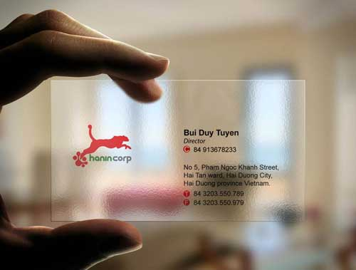 Name Card trong suốt