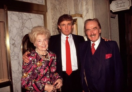 Donald Trump with his parents Mary and Fred Trump 1994 © Barry Talesnick/Retna, Ltd. USA