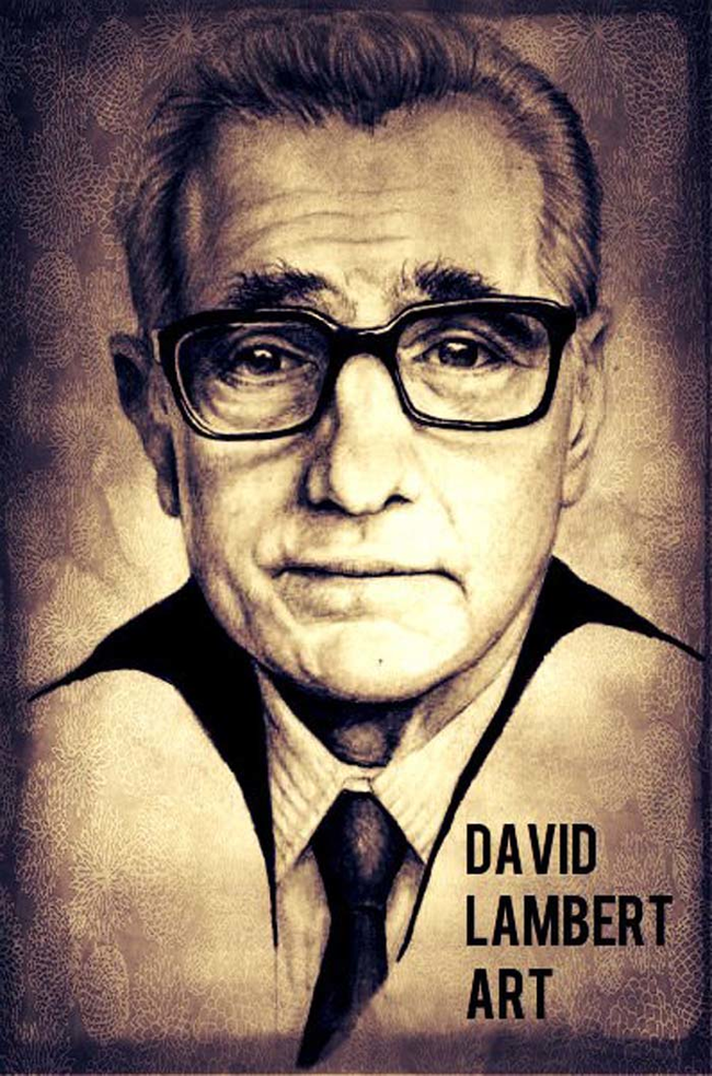 Martin Scorsese-artwork in pen